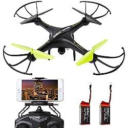 SGILE Hexacopter Gyro Drone con Cámara 2.4 GHZ 6-AXIS WIFI HD + 720P con 2 BATERIAS