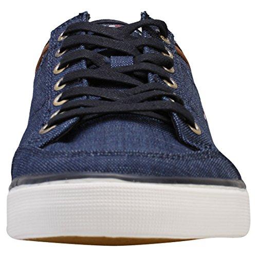 Tommy Hilfiger Core Material Mix Sneaker, Scarpe da Ginnastica Basse Uomo Blu (Midnight 403)