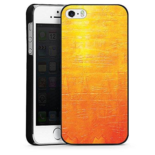 Apple iPhone 5s Housse Étui Protection Coque Egratignure Structure Peinture CasDur noir