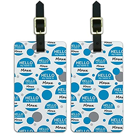 Luggage Suitcase Carry-On ID Tags Set of 2 - Hello