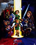 Pyramid International Ocarina of Time The Legend of Zelda Mini-Poster, Kunststoff/Glas, Mehrfarbig, 40x 50x 1,3cm