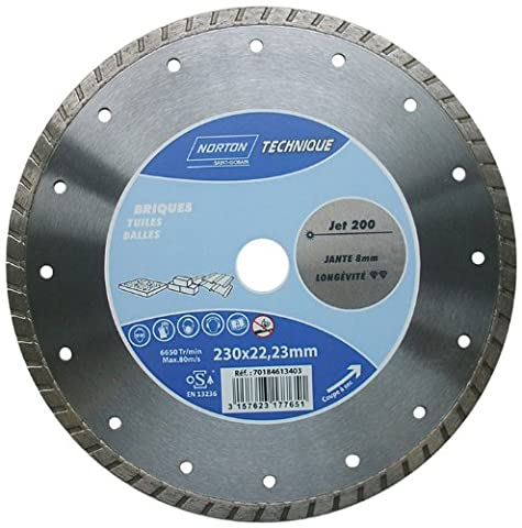 Norton Jet Diamond Cutting Disc for Granite and Marble 230 x 22.23 mm