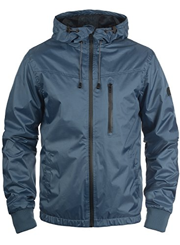 Blend Rudy Herren Windbreaker Regenjacke Übergangsjacke Mit Kapuze, Größe:M, Farbe:Ensign Blue (70260) -