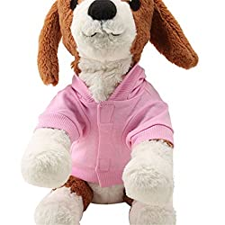 Pet Clothes , Pink Pet Dog Clothes Crown Pattern Puppy Clothing Coat Hooded Cotton T Shirt