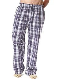Hommes À Carreaux Écossais Cool Polycoton Été Bas De Pyjama Vêtement De Détente Pantalon