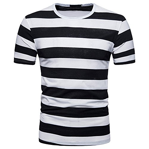 BURFLY Herrenhemd Herren Herrenhemd Herren Sommer Casual V-Ausschnitt Pullover T-Shirt Sport Gestreift Shirt (XL, - Übergröße Harry Potter Kostüm
