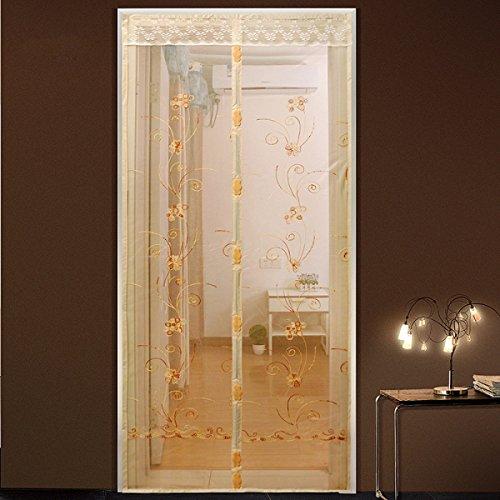 Sommer-Moskito-Vorhang-magnetischer Weicher Schirm-Belüftung Breathable Verschlüsselte Gitter-magnetische Schirm-Tür Beige,80*200cm(31.5*78.7in) (Gitter Tür Magnetische)