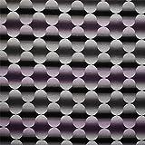 alles-meine.de GmbH 1 m * 1,4 m - Stoff - Retro Muster Jacquard - schwarz weiß lila Wellen 50er Jahr