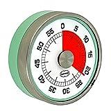 Cabanaz - Retro Kurzzeitmesser Küchenwecker, rund, magnetisch, Vintage Grün (1201301
