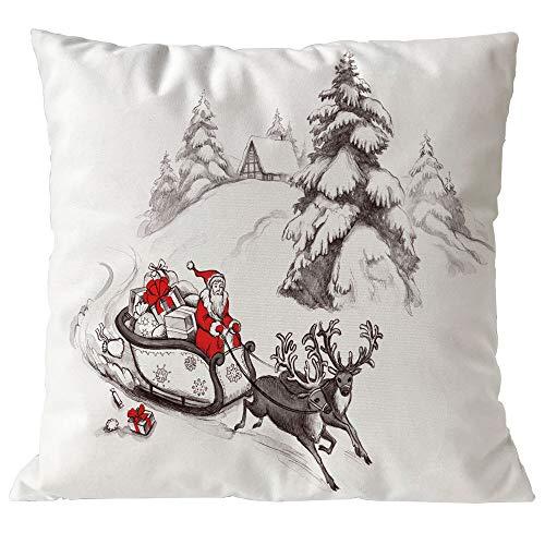 TEBAISE Kissenbezuge Weihnachten Kissenhülle Dekokissen Throw Pillow Covers -