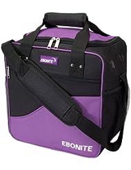 Ebonite Basic Single Bowling Bag- Purple/Black by Ebonite Bowling Products