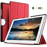 IVSO Acer Iconia One 10 (B3-A40) Hülle, Ultra Schlank Ständer Slim Leder zubehör Schutzhülle perfekt geeignet für Acer Iconia One 10 B3-A40 2017 Tablet PC, Rot