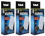 Fluval A481 Polyester- / Clearmax-Filtereinsatz für Filter Fluval U2, 3 x 2 Stück
