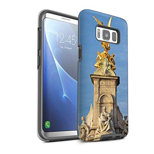 STUFF4 Glanz Harten Stoßfest Hülle / Case für Samsung Galaxy S8/G950 / Victoria-Denkmal Muster / Seiten London Kollektion