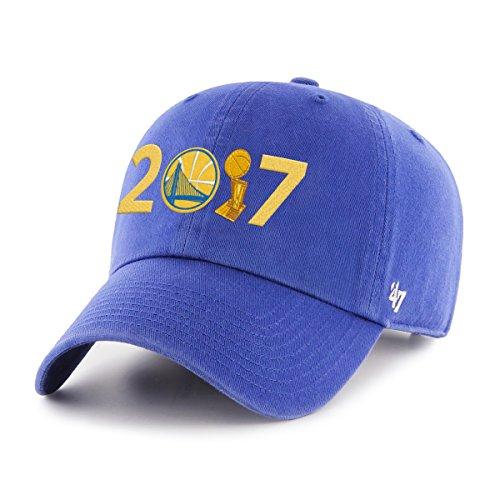 NBA Golden State Warriors Erwachsene 2017Champions '47reinigen bis Verstellbarer Hat, One Size, unisex, NBA GS 2017 Champs 47 Clean Up, königsblau, Einheitsgröße (47 Golden State Brand Warriors)