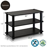 Furinno Laptoptisch 13080ex/BK Turn-s-Tube 3-Tier-Schuhregal, Espresso/schwarz, Holz, Espresso and Black, 3-Tier Single
