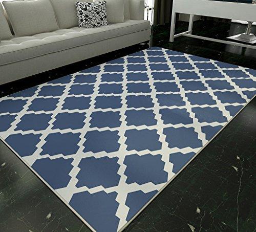 SESO UK- Alfombra de lujo de diseño moderno ( Color : Azul , Tamaño : 200*300cm )