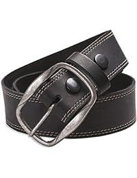 Hawkdale - Herren Gürtel aus Vollnarbenleder mit Naht-Detail - Breite 40 mm - Schnalle abnehmbar - # 8R-F54-400