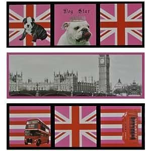 Londres -Lot 3 Stickers Magnet Aimants Frigo Deco City London Union Jack