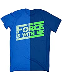 glow in the dark 123t Men's GLOW IN THE DARK THE FORCE IS WITH ME LOOSE FIT T-SHIRT