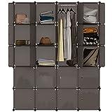 ANGRIA Regalsystem Kleiderschrank 20 Kubus Garderobenschrank für Aufbewahrung Kleidung, Schuhe, Spielzeug und Bücher (Braun)