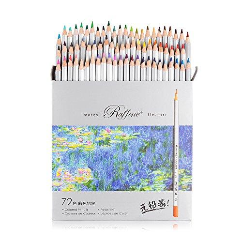 Lightwish 72 Farben Kunst Zeichnung Bleistift 7100-72CB Set ungiftig ASTM Holz Schreiben Malerei Künstler Skizzieren Handwerk Doodling Designs und Kreativität Bunte Blessings Karten