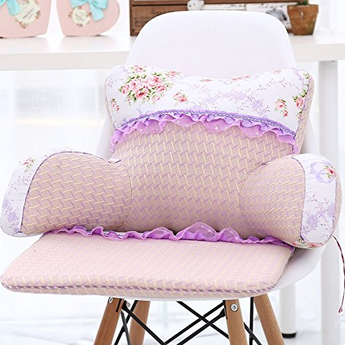 famiglia, letto +, cuscino del collo estate pizzo cuscino di seta ghiaccio cuscino vita dell'ufficio auto incinta poltrona letto da cuscinetto lombare cuscino lombare Viaggi cuscin ( colore : C. )