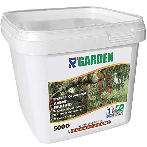 r'garden - concime organico misto per alberi da frutto, fertilizzante naturale, nutriente in profondità, facile da usare, 500 g