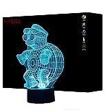 3D Schildkröte Lampe USB Power 7 Farben Amazing Optical Illusion 3D wachsen LED Lampe Formen Kinder Schlafzimmer Nacht Licht