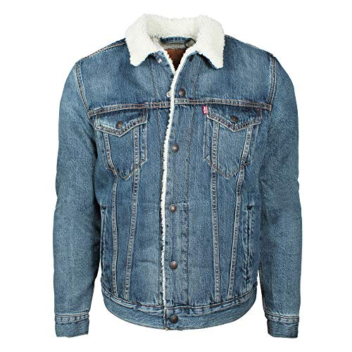 Levi's type 3, giacca in jeans uomo, blu (mayze sherpa trucker 0089), large