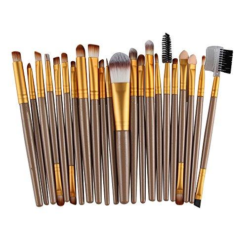 Yazidan 22PCS Holzgriff Kosmetik Augenbraue Lidschatten Pinsel Make-Up Pinsel Sets Werkzeuge,...