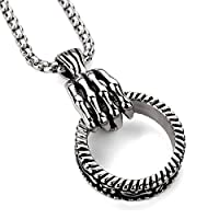 Pop Skeletons Hands Hanging Rings Hip Hop Necklaces Pendants HIPHOP Jewelry Stainless Steel Men And Women Models Fashion Personality