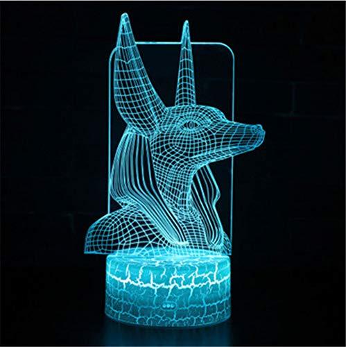 3D-Lampe LED-Nachtlicht 7 Farbwechsel-Touch-Stimmung-Lampe Weihnachtsgeschenk ()