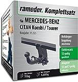 Rameder Komplettsatz, Anhängerkupplung Abnehmbar + 13pol Elektrik für Mercedes-Benz CITAN Kombi/Tourer (137112-10862-1)