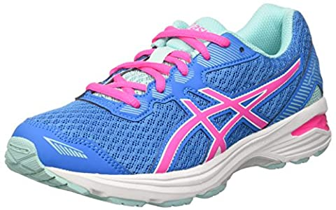 Asics Unisex Kids' Gt-1000 5 Gs Sneakers, Multicolor (Diva Blue/Pink Glow/Aqua Splash), 5.5 UK