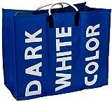 Wäschesammler Wäschekorb Wäschesortierer 60 x 49 x 32 cm, 95 L (Blau)