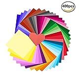 Erlliyeu Origami Papier Faltpapier Doppelseite 300 Blätter 50 Verschiedene Farben für DIY Kunst Handwerk A4-Papierformat (30*30cm)