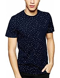 [Sponsored]T-Shirt With All Over Print Navy