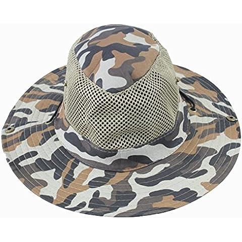 Lmeno Cappello Boonie Pesca Berretto Tesa Larga Cappelli Camuffamento Secchio
