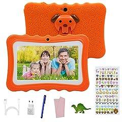 Idea Regalo - Tablet offerte 7 Pollici Android 7.0,Tablet per Bambini offerte 2GB RAM +32GB con Memoria ,Tablet Educativo offerte Wifi/ Doppia Fotocamera,con Custodia in Silicone , Touch Screen.