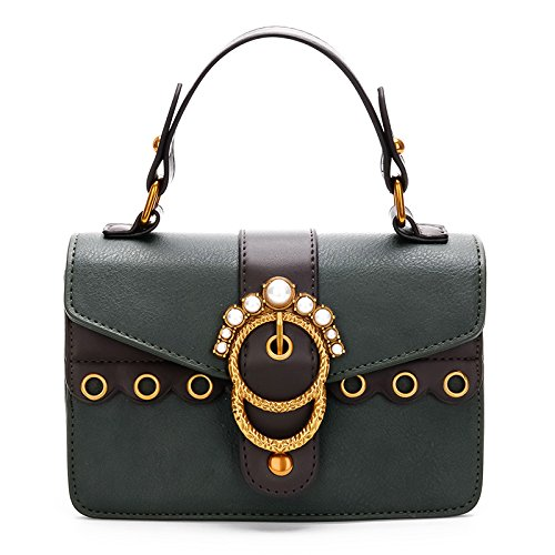 GUANGMING77 Unica Borsa A Tracolla Lady _ Spalline Larghe Borsa A Tracolla,Gules green
