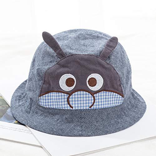 Männlich Kostüm Top Hut - Baby Hut Visier Mädchen Hut Flut männlich Baby Fischer Hut Sonnencreme - Welpe dunkelblau 47-49cm geeignet für 1-3 Jahre alt