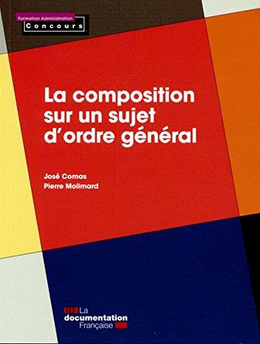 La composition sur un sujet d'ordre général par José-Maria Comas
