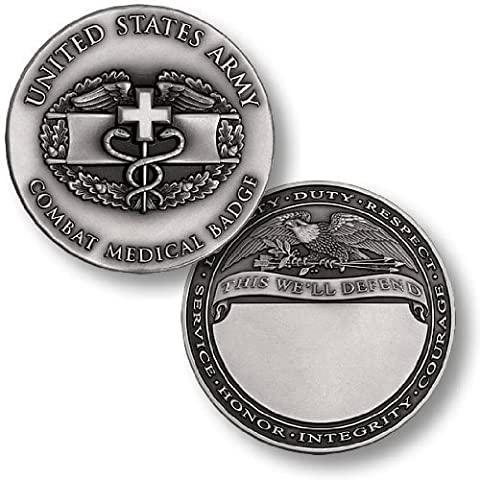 Combat Medical Badge Engravable Challenge Coin by Northwest Territorial Mint