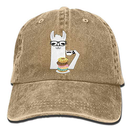 Sdltkhy Llama Donut Unisex Washed Twill Cotton Baseball Deckel Vintage Adjustable Hat New14