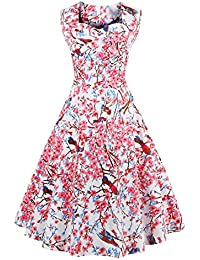 E-Girl M128318D Robe de bal Vintage pin-up 50's Rockabilly robe de soirée cocktail,S-XXXXL