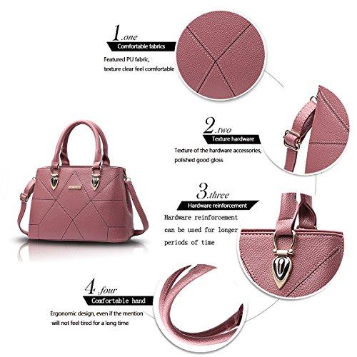 Tisdaini Borse di cuoio dell'unità di elaborazione delle borse di cuoio dell'unità di elaborazione borsa delle borse del sacchetto del messaggero semplice Polvere di gomma