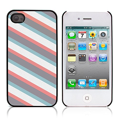 Graphic4You RED STRIPES Muster Harte Hülle Case Tasche Schutzhülle für APPLE IPHONE 4 und 4S Design #20