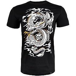 Venum Dragon'S Flight Camiseta, Hombre, Negro/Blanco, L