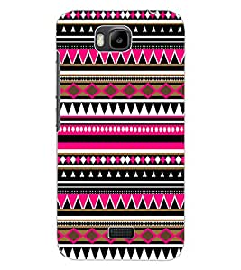 ColourCraft Tribal Pattern Design Back Case Cover for HUAWEI HONOR BEE
